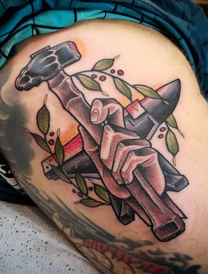 Hammer Tattoo by Tattoo Lenny