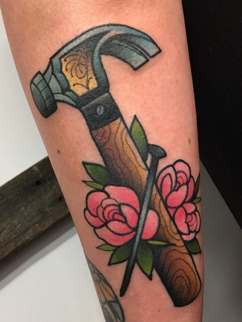 Hammer Tattoo by Tilly Dee