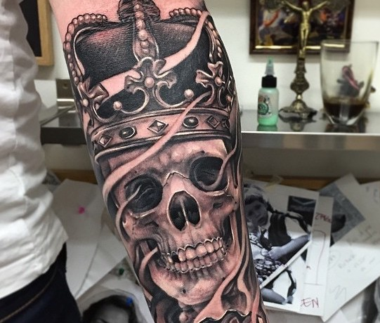 King Tattoo by Andy Blanco 2