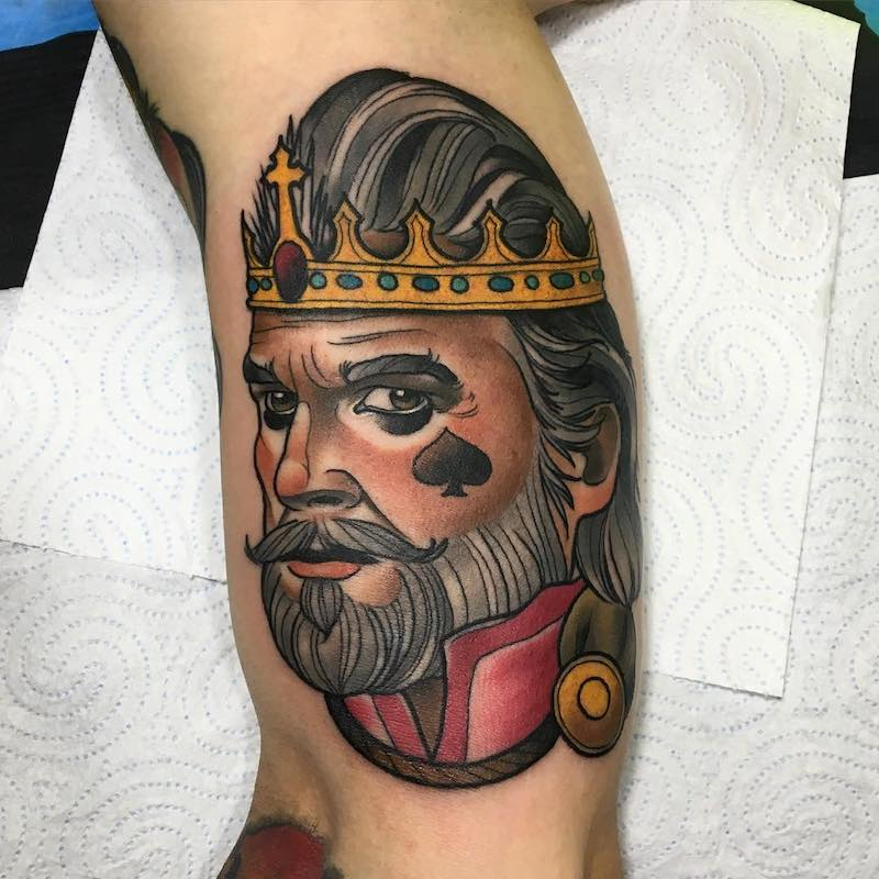 King Tattoo by Debora Cherrys