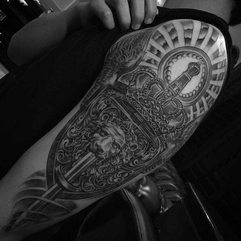 King Tattoo by Jose Lopez