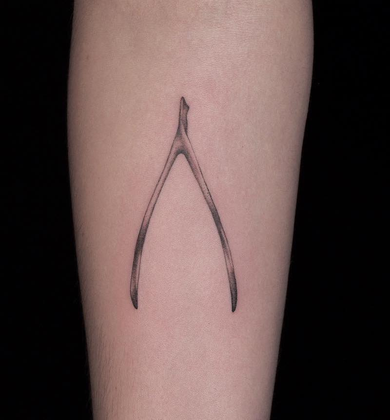 Lucky Wishbone Tattoo by Jeremy T. Kantor