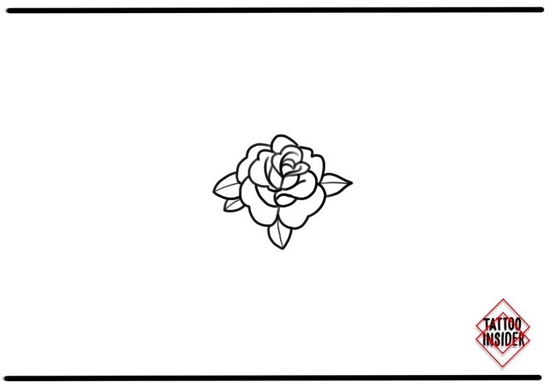small tattoos- Small Simple Rose Tattoo Design