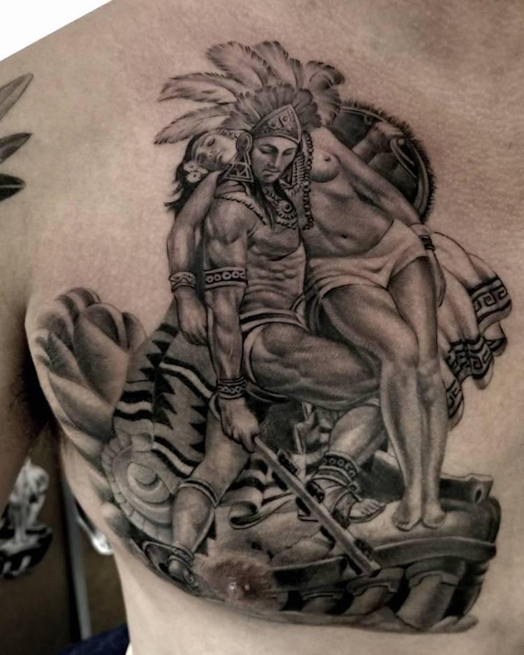 Aztec Tattoo 2 by Freddy Negrete