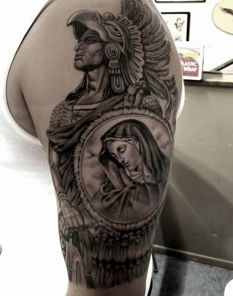 Aztec Tattoo 3 by Freddy Negrete
