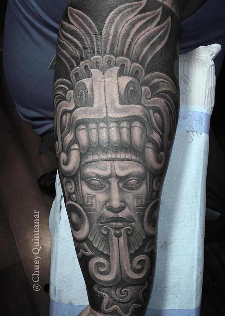 Aztec Tattoo Chuey Quintanar