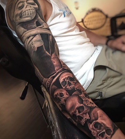 Aztec Tattoo Sleeve by Goethe