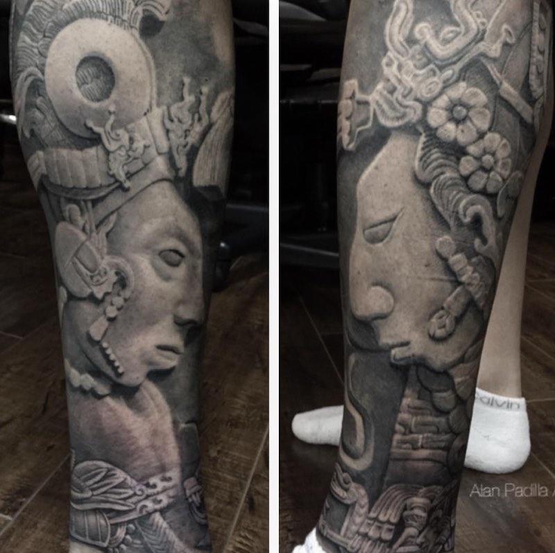 Aztec Tattoo by Alan Padilla