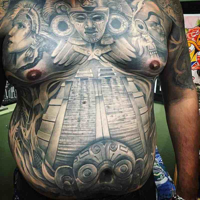 Aztec Tattoo by Chente