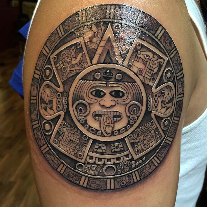 50 of the best aztec tattoos tattoo insider for Inkfatuation tattoo shop bakersfield