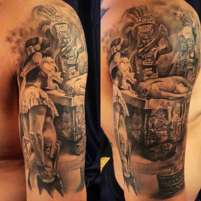 Aztec Tattoo by Gallo De Jalisco