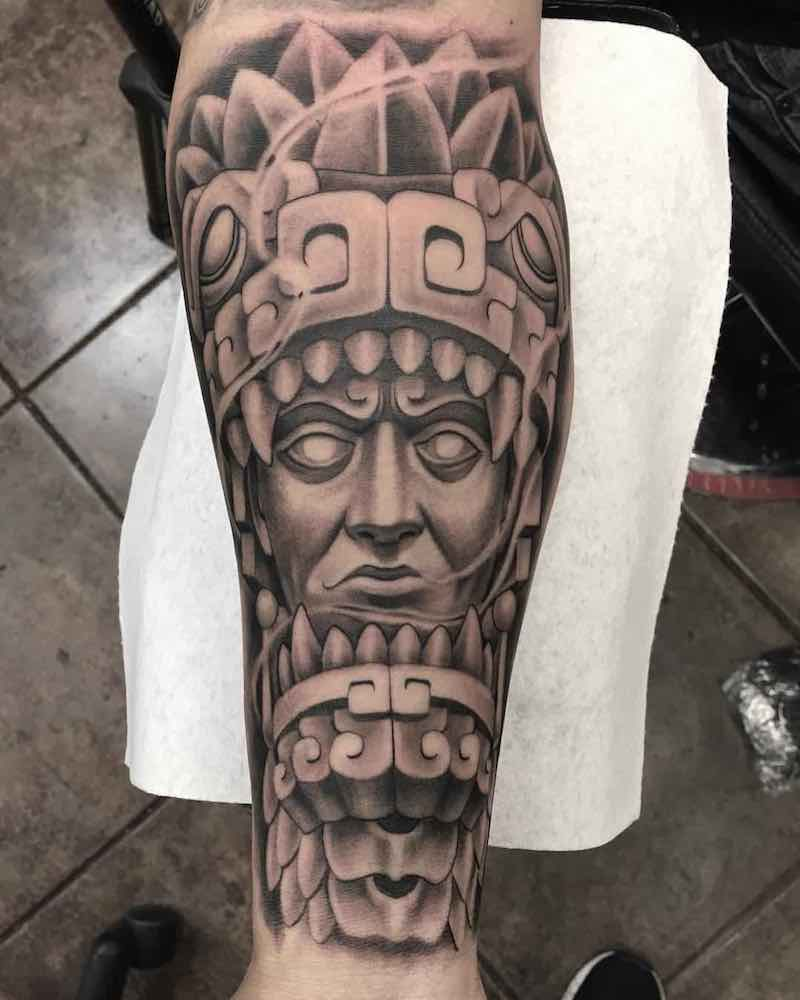 Aztec Tattoo by Marcos Adame