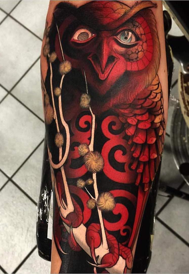 Owl Tattoo by Jacob Wiman
