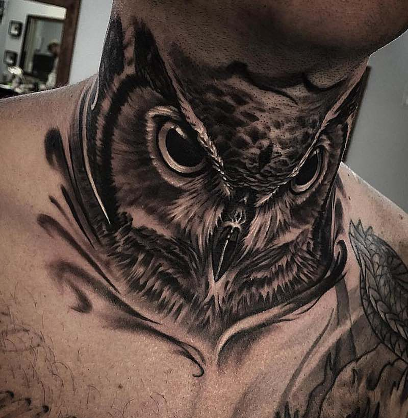 Owl Tattoo by Josh Sara