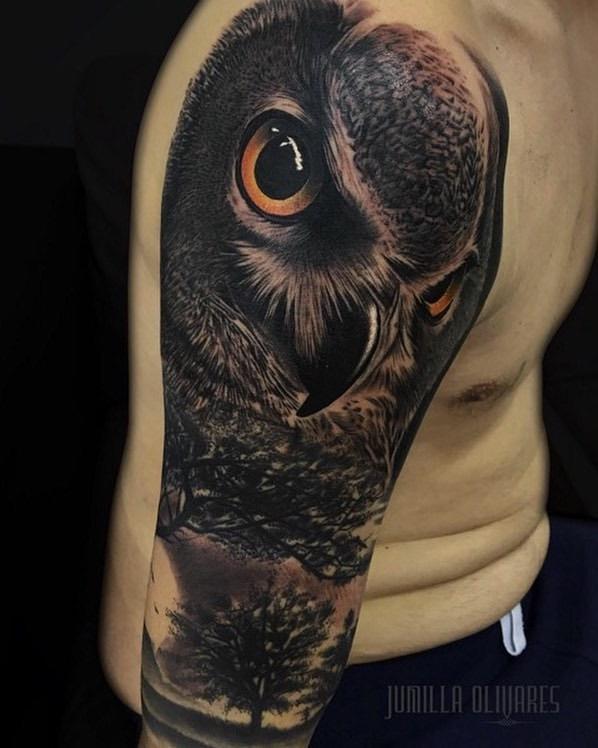 Owl Tattoo by Jumilla Olivares