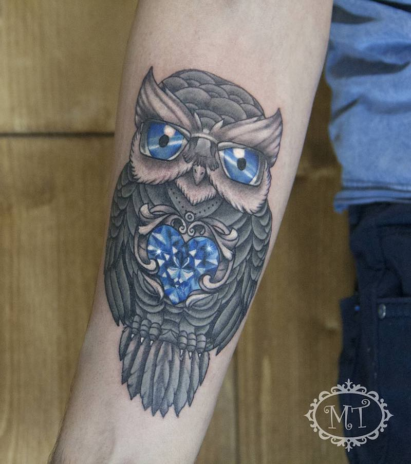 Owl Tattoo by Melek Taştekin