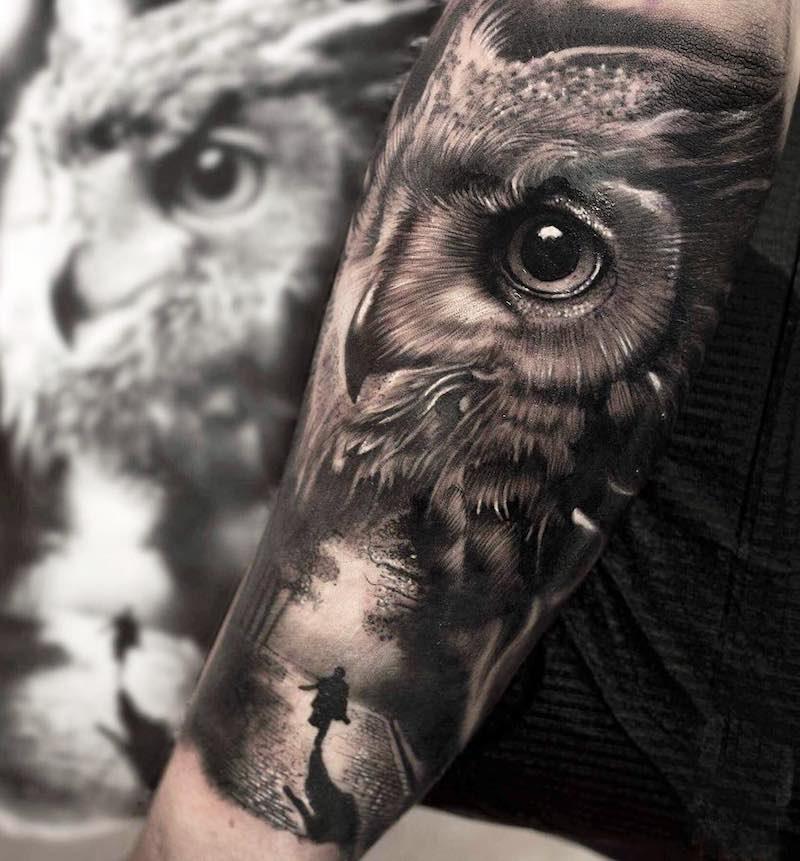 Owl Tattoo by Mumia