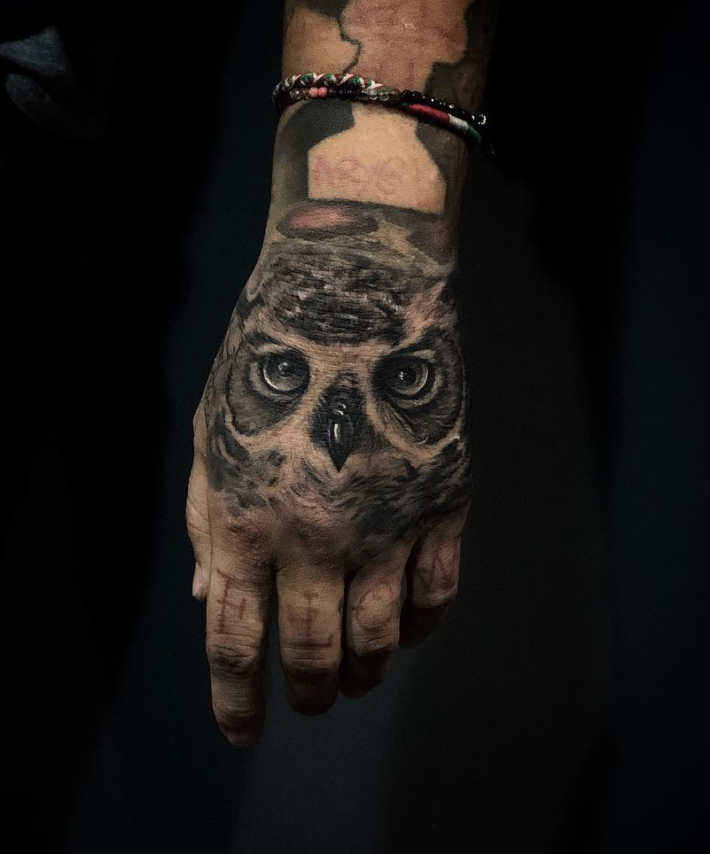 Owl Tattoo by Nathan Cartiel