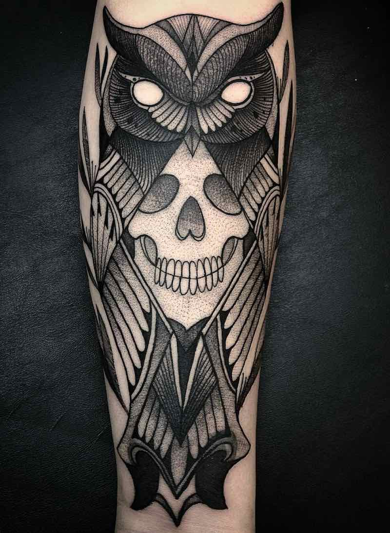 Owl Tattoo by Paco Anes
