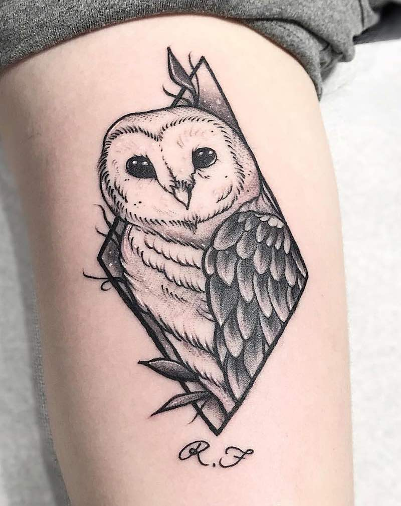 Owl Tattoo by Vince Espinoza