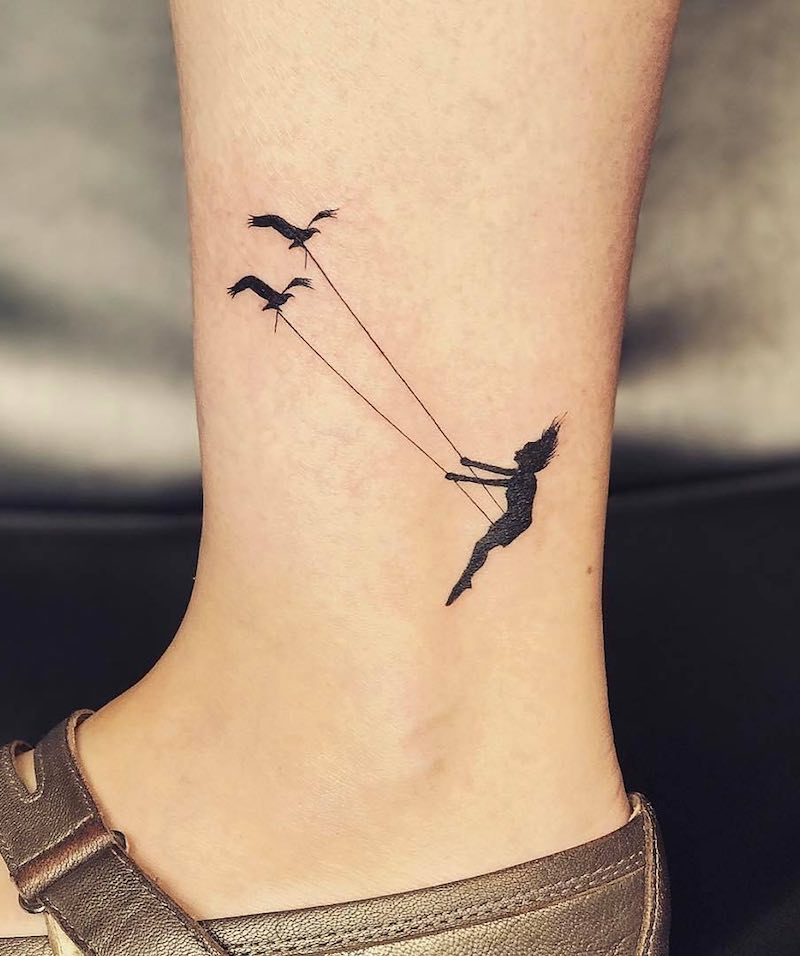 Swing Small Tattoo by Jay Shin