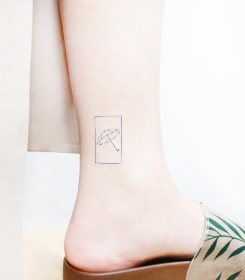 Umbrella Small Tattoo by Tattooist IDA