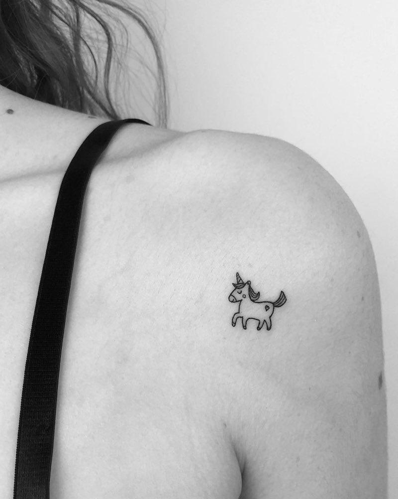 Unicorn Small Tattoo by Cagri Durmaz