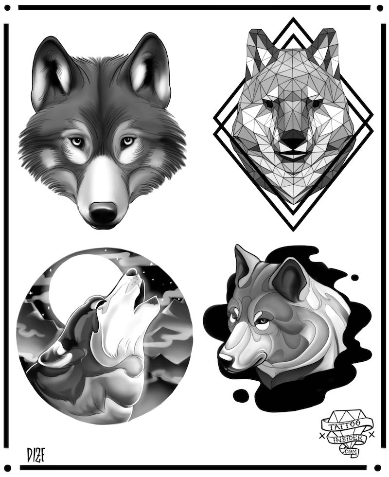 Wolf Tattoo Design Ideas