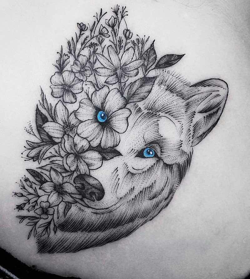 Wolf Tattoo by Bruno Almeida