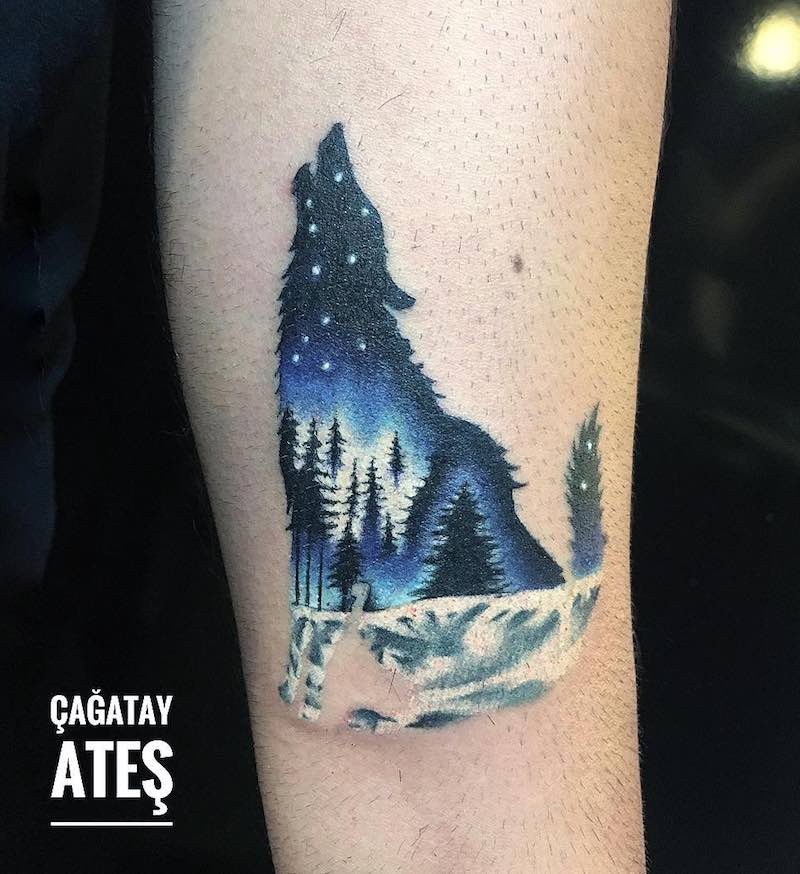 Wolf Tattoo by Cagatay Ates