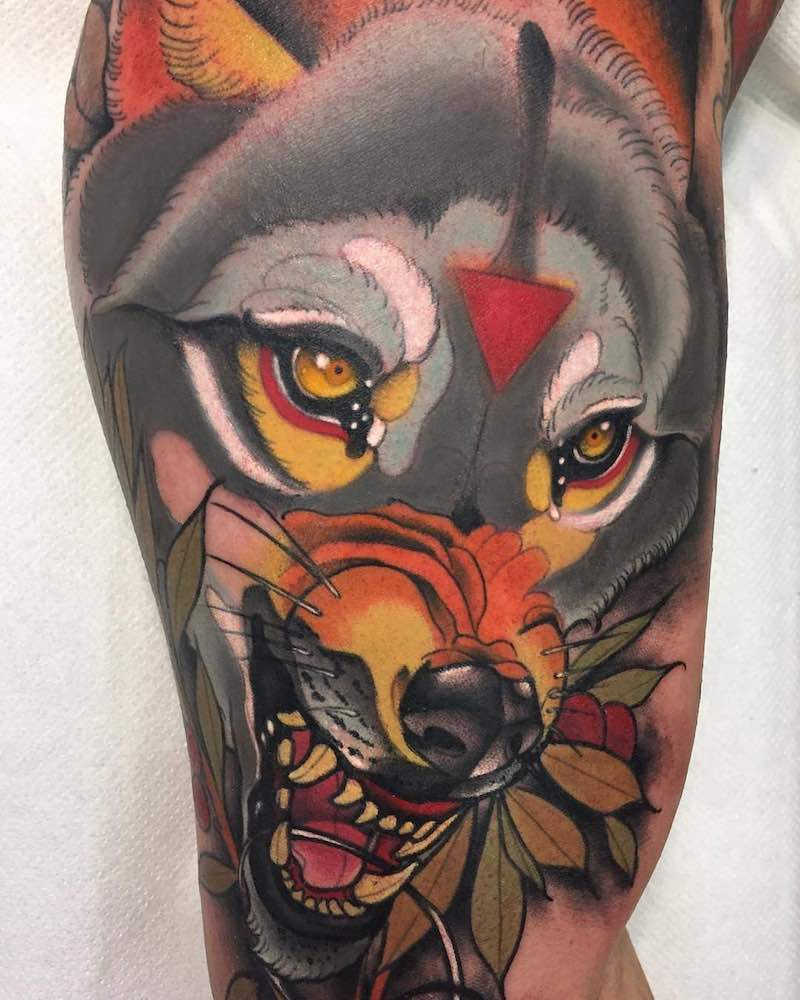 Wolf Tattoo by Daniels Bauti