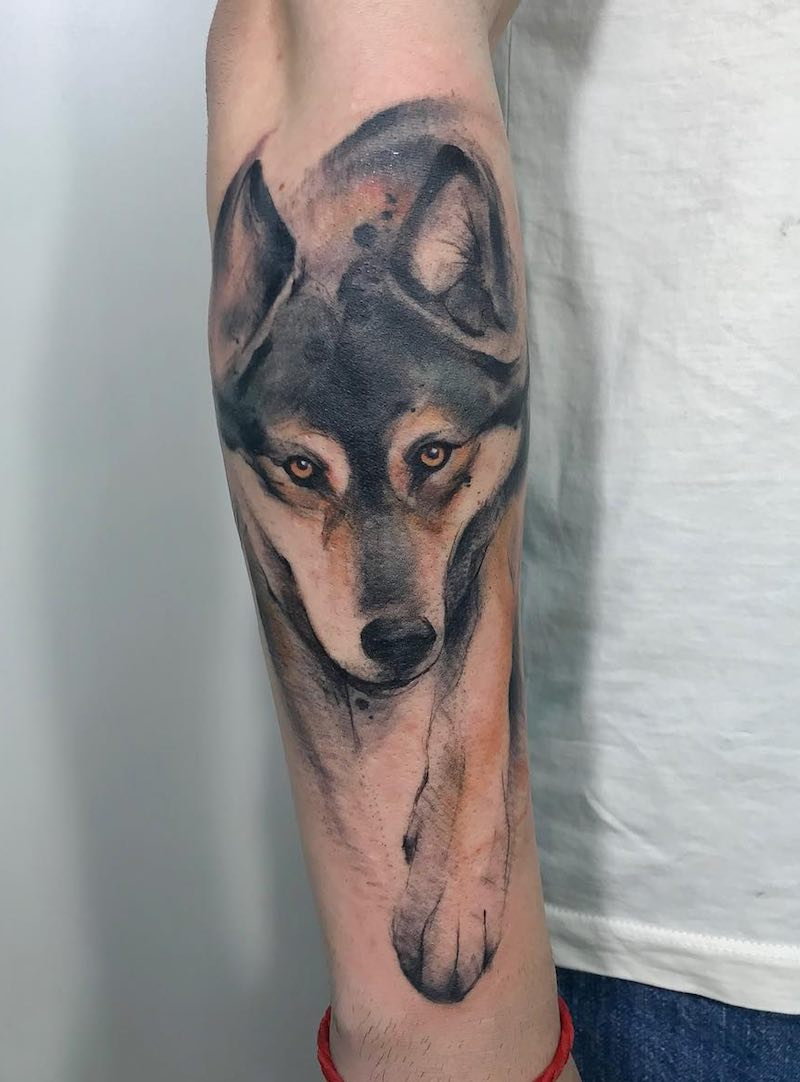 Wolf Tattoo by Deduch