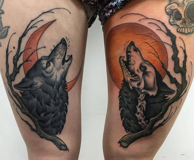Wolf Tattoo by Matt Buck