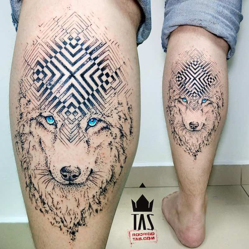Wolf Tattoo by Rodrigo Tas