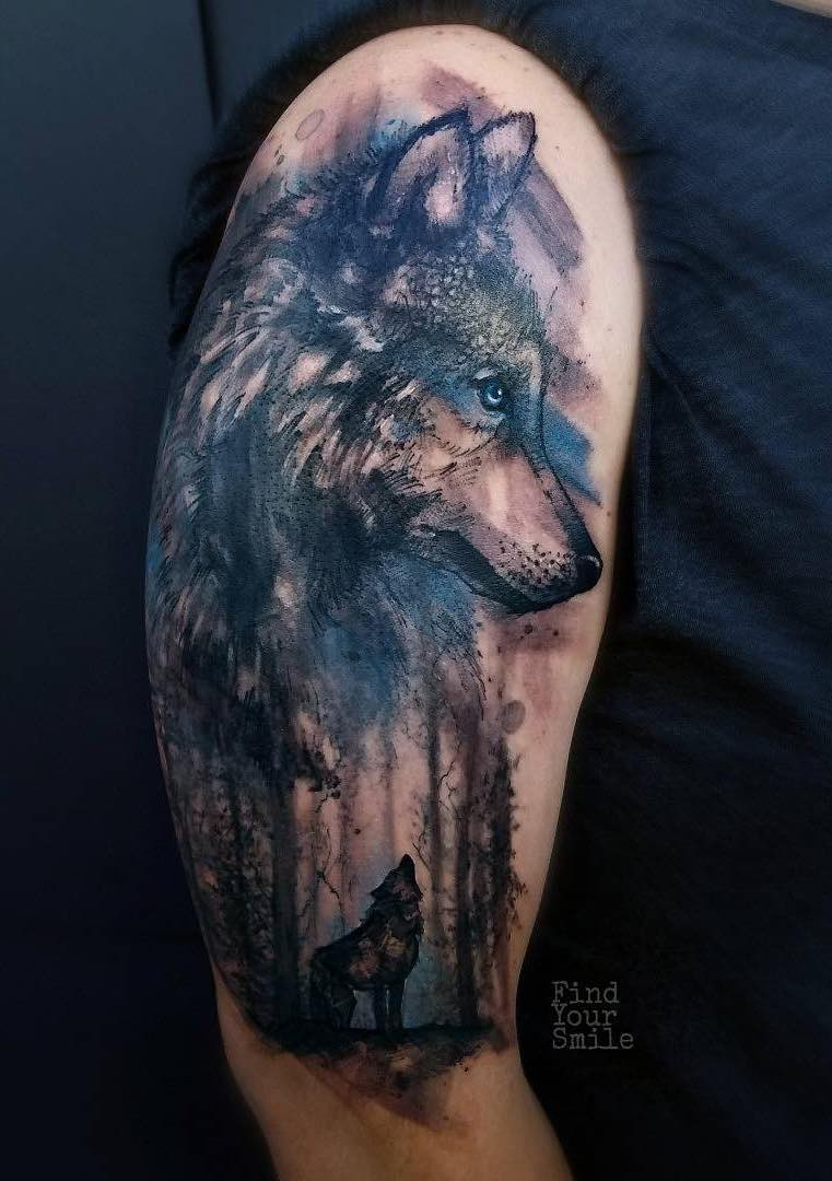 Wolf Tattoo by Russell Van Schaick
