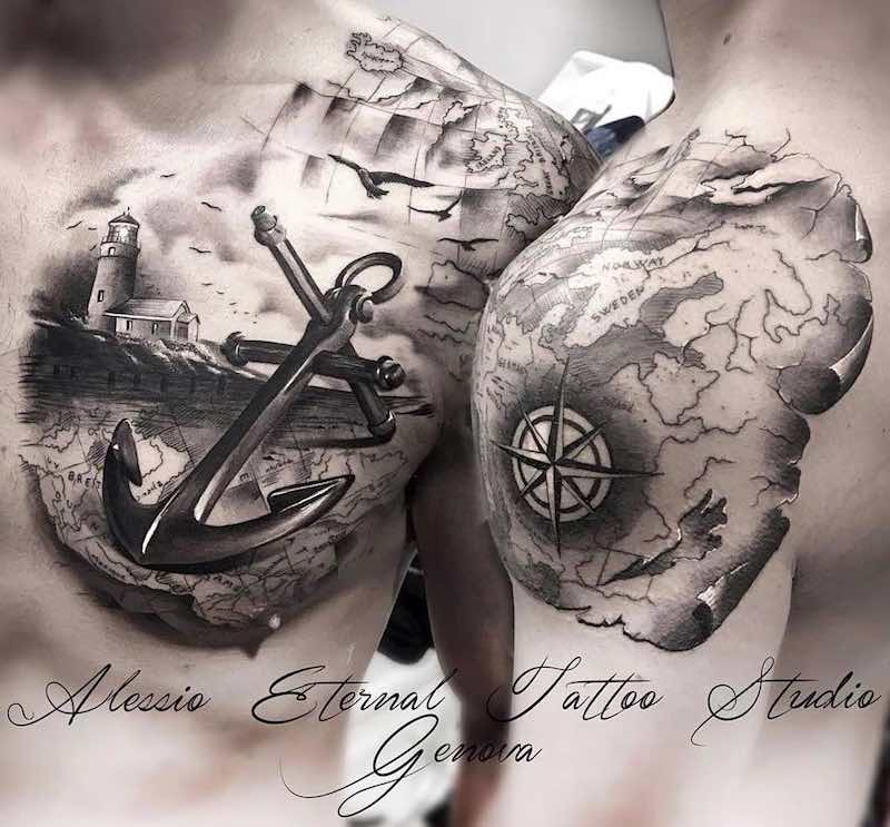Anchor Tattoo by Alessio Favre