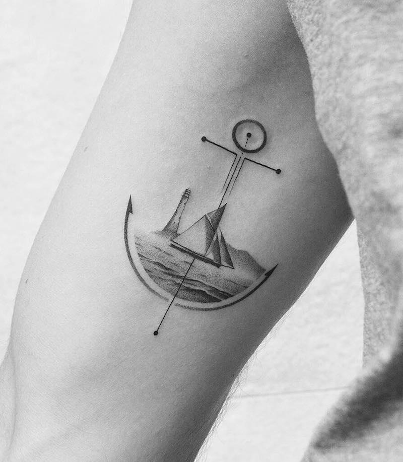Anchor Tattoo by Amanda Piejak