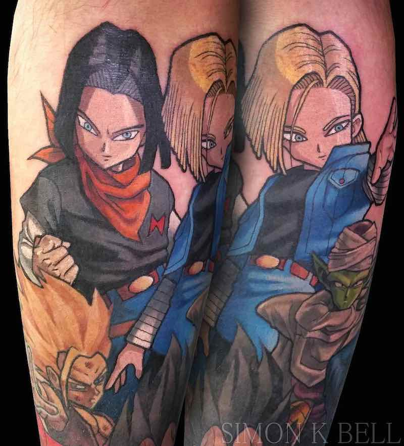 Andriods Dragon Ball Z Tattoo by Simon K Bell