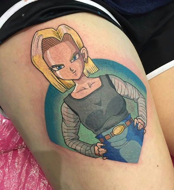 Android 18 Tattoo by Gracie Gosling