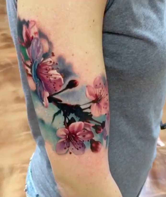 Cherry Blossom Tattoo by John Barrett