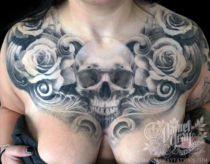 Chest Piece Tattoo by Daniel Gray