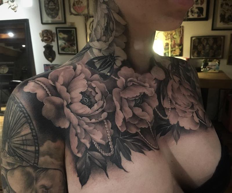 Chest Piece Tattoo by Jannik Perreault
