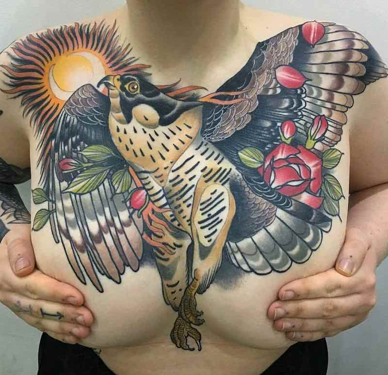 Chest Piece Tattoo by Matt Adamson