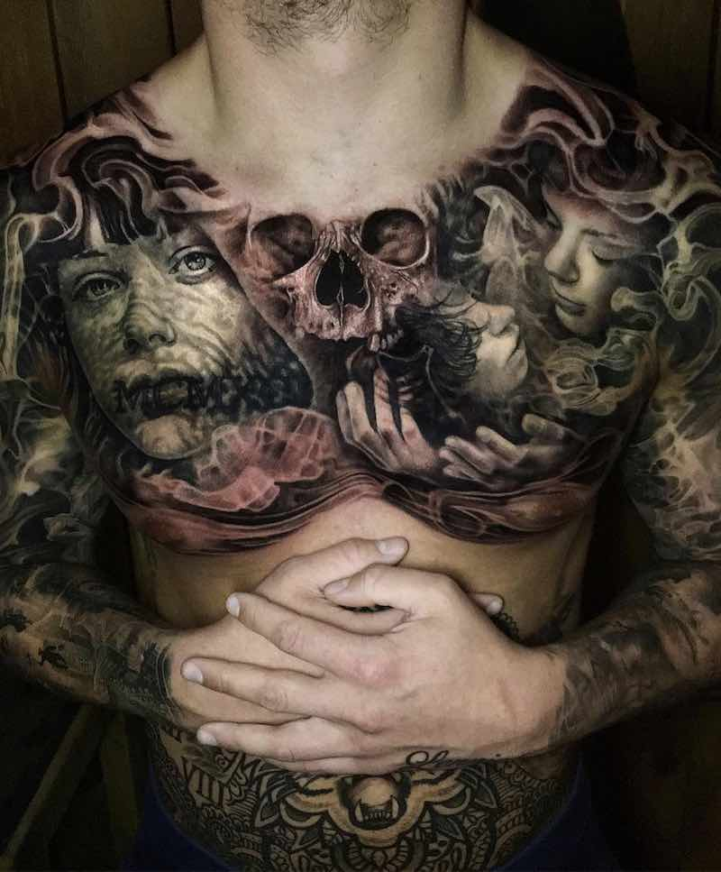 Chest Piece Tattoos