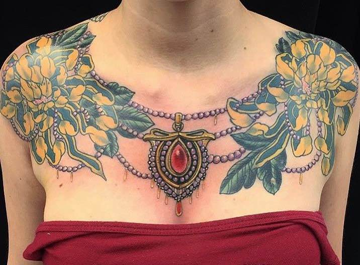 Chest Piece Tattoo by Mike Hernandez