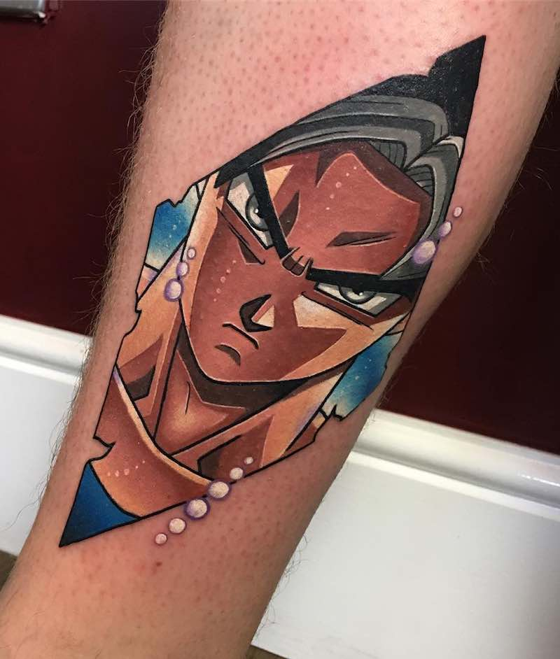 Diamond Goku Tattoo by Dane Grannon