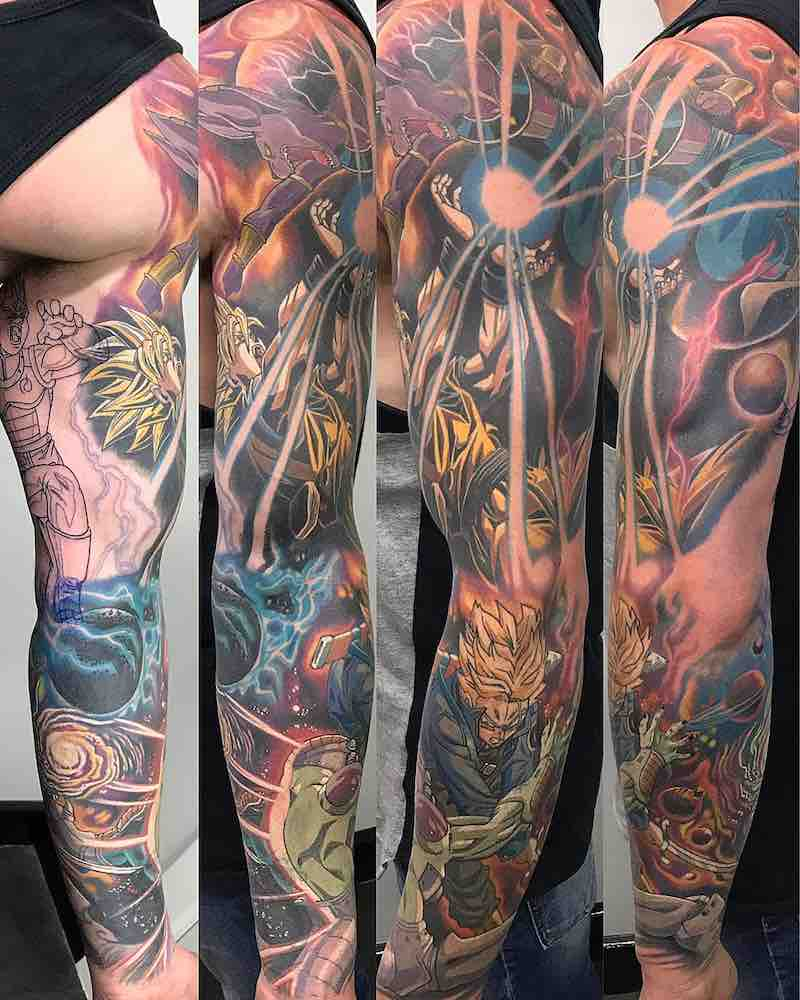 Dragon Ball Z Sleeve Tattoo by Ry Tattoomiester