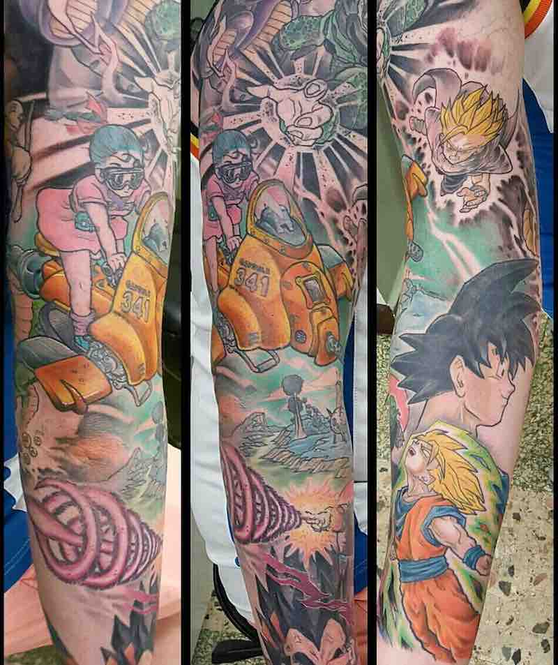 Dragon Ball Z Tattoo Sleeve by Godfrey Atlantis-