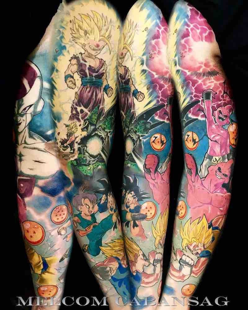 Dragon Ball Z Tattoo Sleeve by Melcom