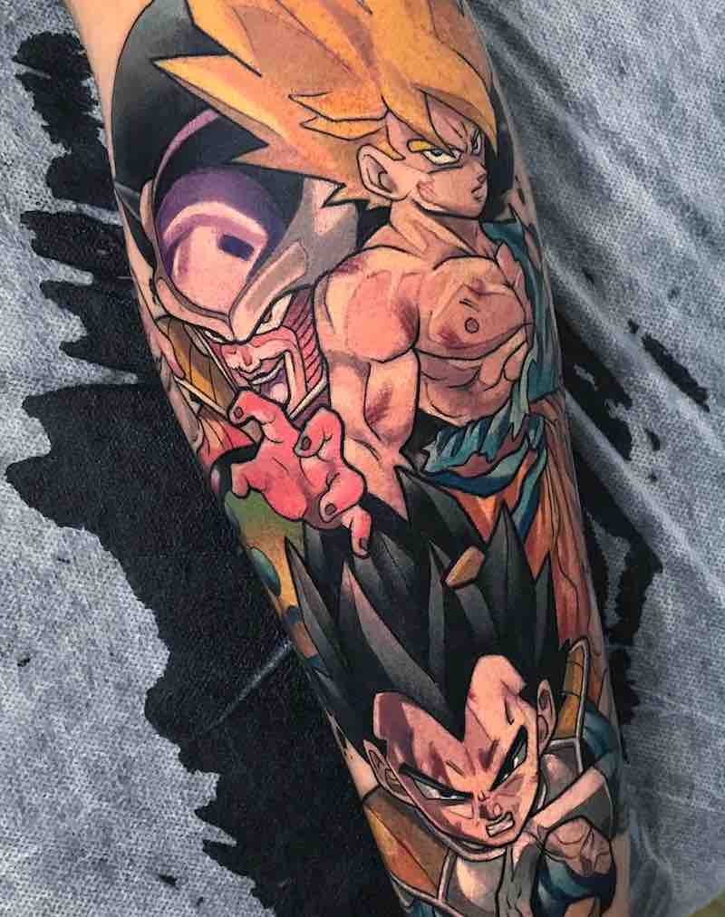 Dragon Ball Z Tattoo by Oash Rodriguez
